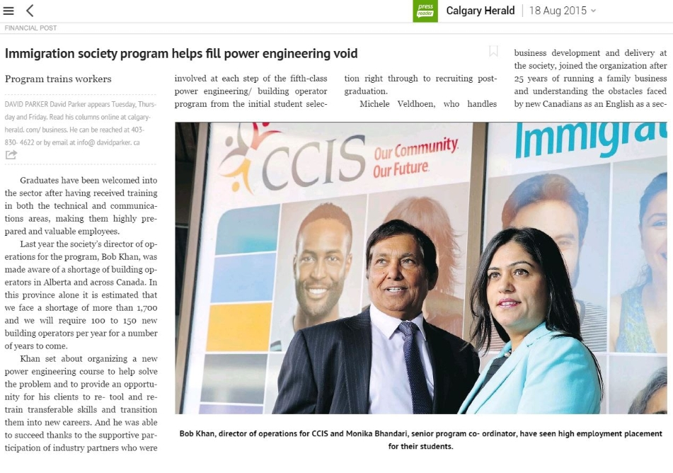 immigration society program helps fill power engineering void 001